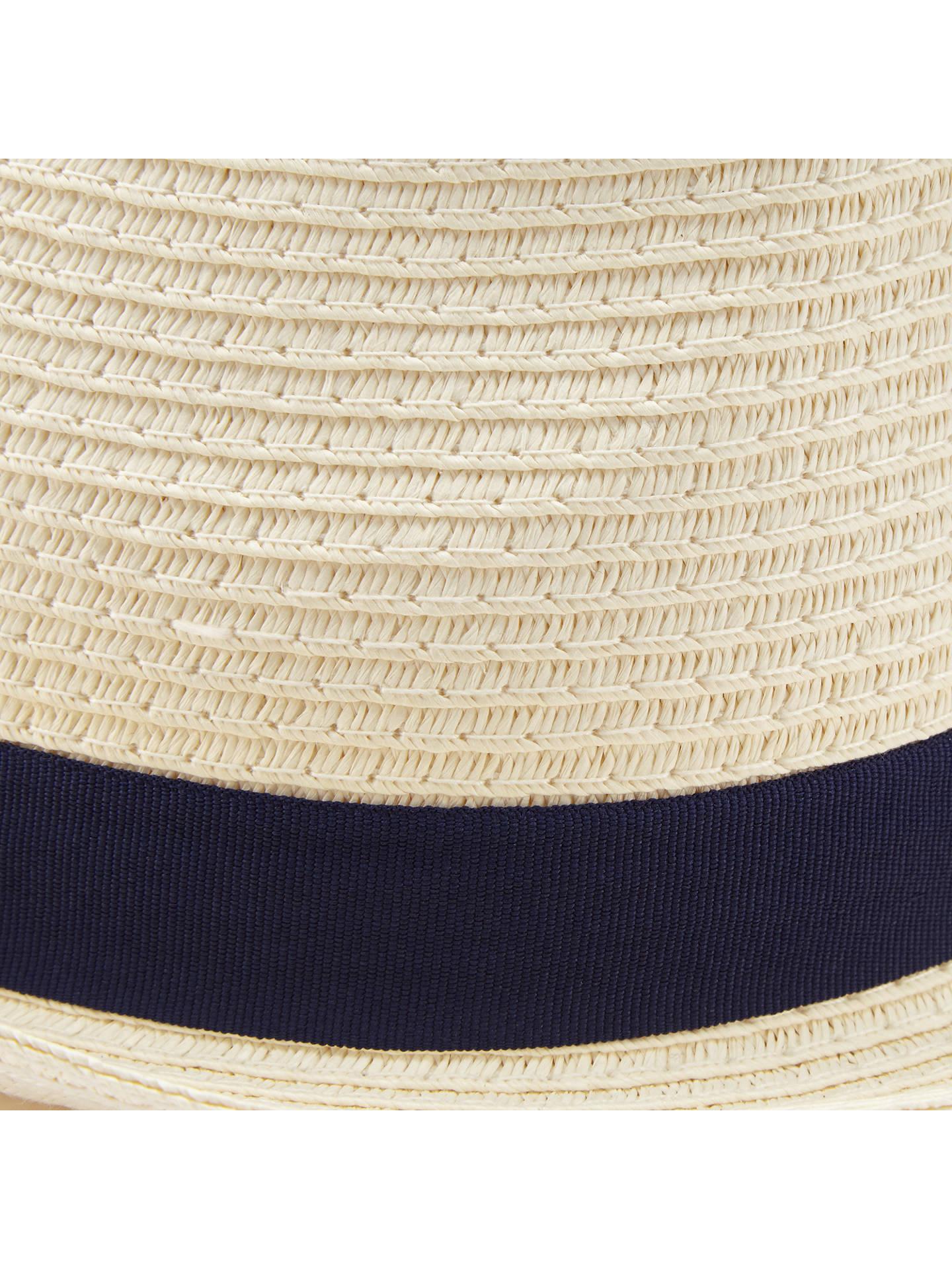 ... BuyJohn Lewis Packable Braid Trilby Hat e77634b2704a