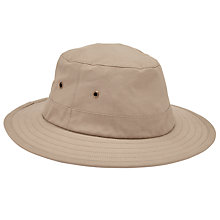 Buy John Lewis Cotton Safari Hat, Khaki Online at johnlewis.com