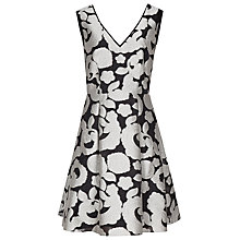 Buy Reiss Miriah Jacquard Dress, Black/Off White Online at johnlewis.com