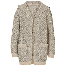 Buy Betty & Co. Chunky Hooded Cardigan, Brass/Grey Online at johnlewis.com