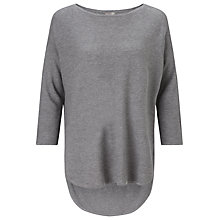 Buy Phase Eight Megg Curve Jumper, Charcoal Online at johnlewis.com