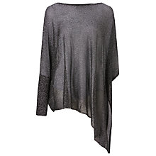 Buy Phase Eight Shimmer Nieve Knit Top, Gunmetal Online at johnlewis.com