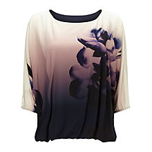 Buy Phase Eight Cecily Floral Print Top, Multi Online at johnlewis.com