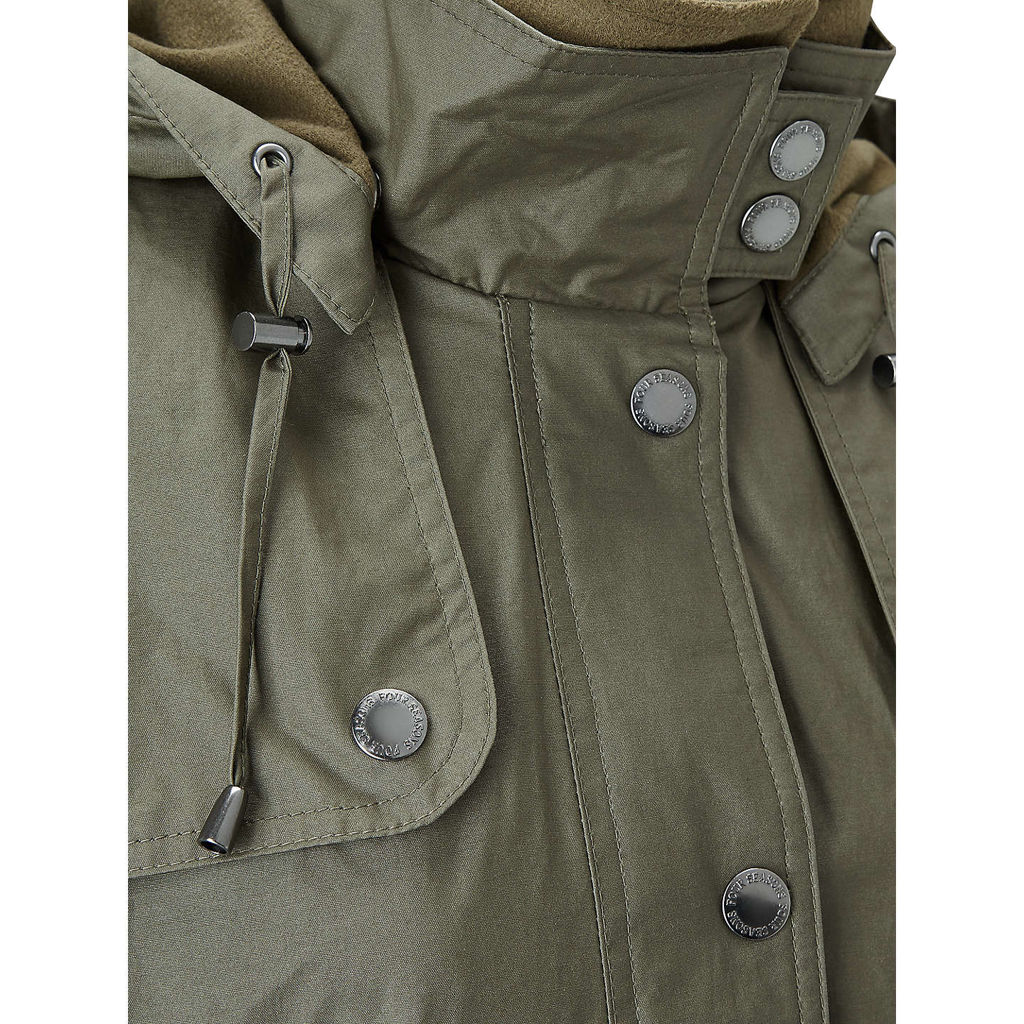 BuyFour Seasons Waterproof Wax Jacket, Olive, XXL Online at johnlewis.com