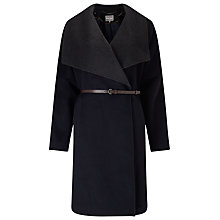 Buy Phase Eight Bruna Belted Coat, Navy/Charcoal Online at johnlewis.com