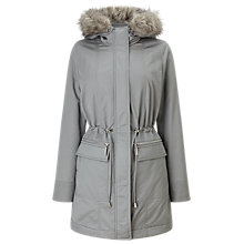 Buy Phase Eight Caprice Faux Fur Trim Puffer Coat, Silver Grey Online at johnlewis.com