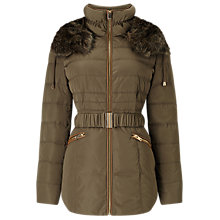 Buy Phase Eight Faux Fur Trim Paula Puffer Coat Online at johnlewis.com