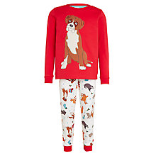 Buy John Lewis Buster the Boxer Pyjamas, Red Online at johnlewis.com