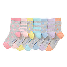 Buy John Lewis Children's Days Of The Week Socks, Pack of 7, Grey Online at johnlewis.com