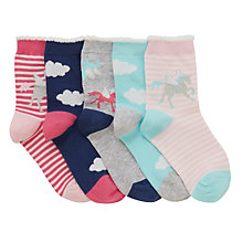 Buy John Lewis Children's Unicorn Socks, Pack of 5, Pink/Multi Online at johnlewis.com