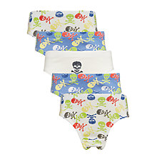 Buy John Lewis Boys' Skull and Crossbone Briefs, Pack of 5, Blue Multi Online at johnlewis.com