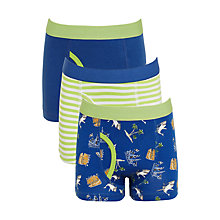 Buy John Lewis Boys' Shipwreck Trunks, Pack of 3, Blue Online at johnlewis.com