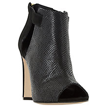 Buy Dune Cersei Peep Toe Ankle Boots, Black Reptile Online at johnlewis.com
