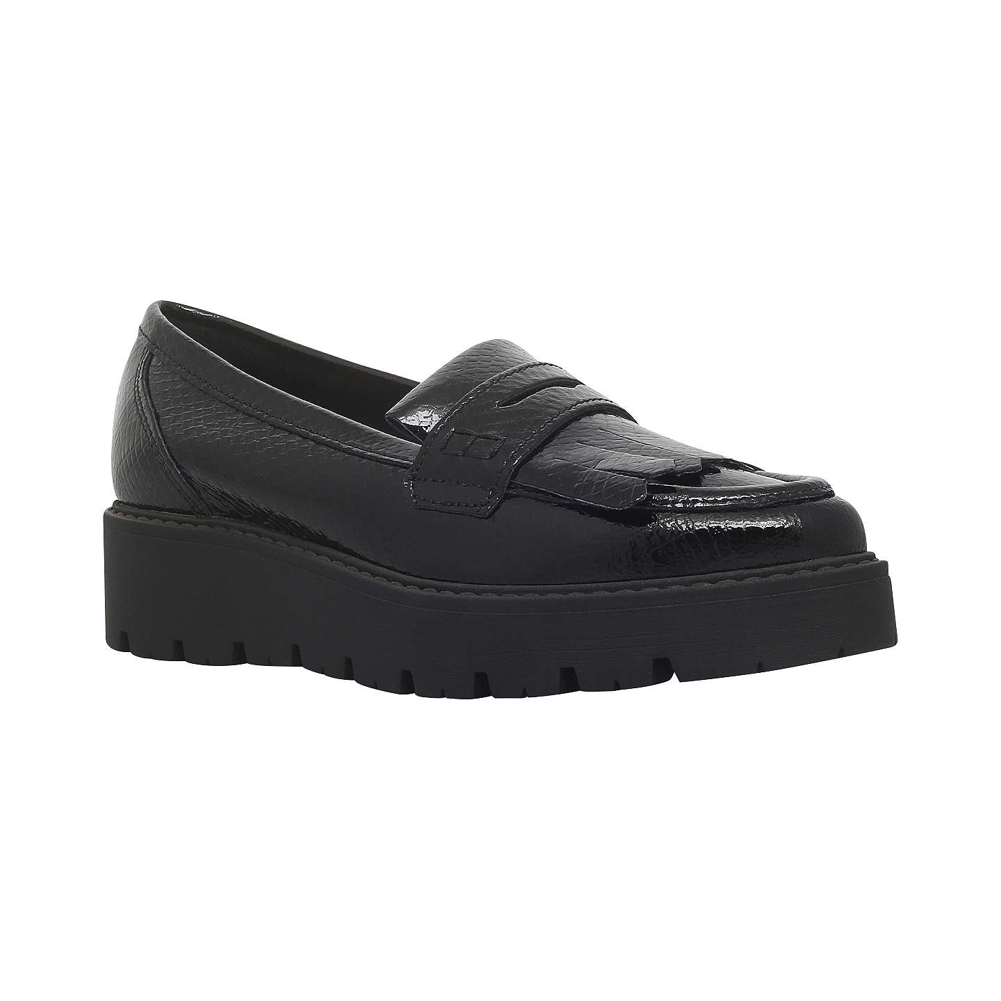 BuyKurt Geiger Kompton Flatform Loafers, Black, 3 Online at johnlewis.com  ...