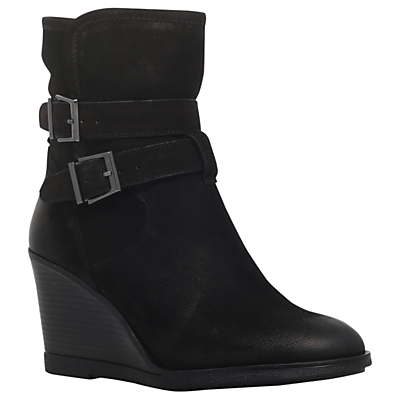 KG by Kurt Geiger Rhona Wedge Heel Ankle Boots, Black