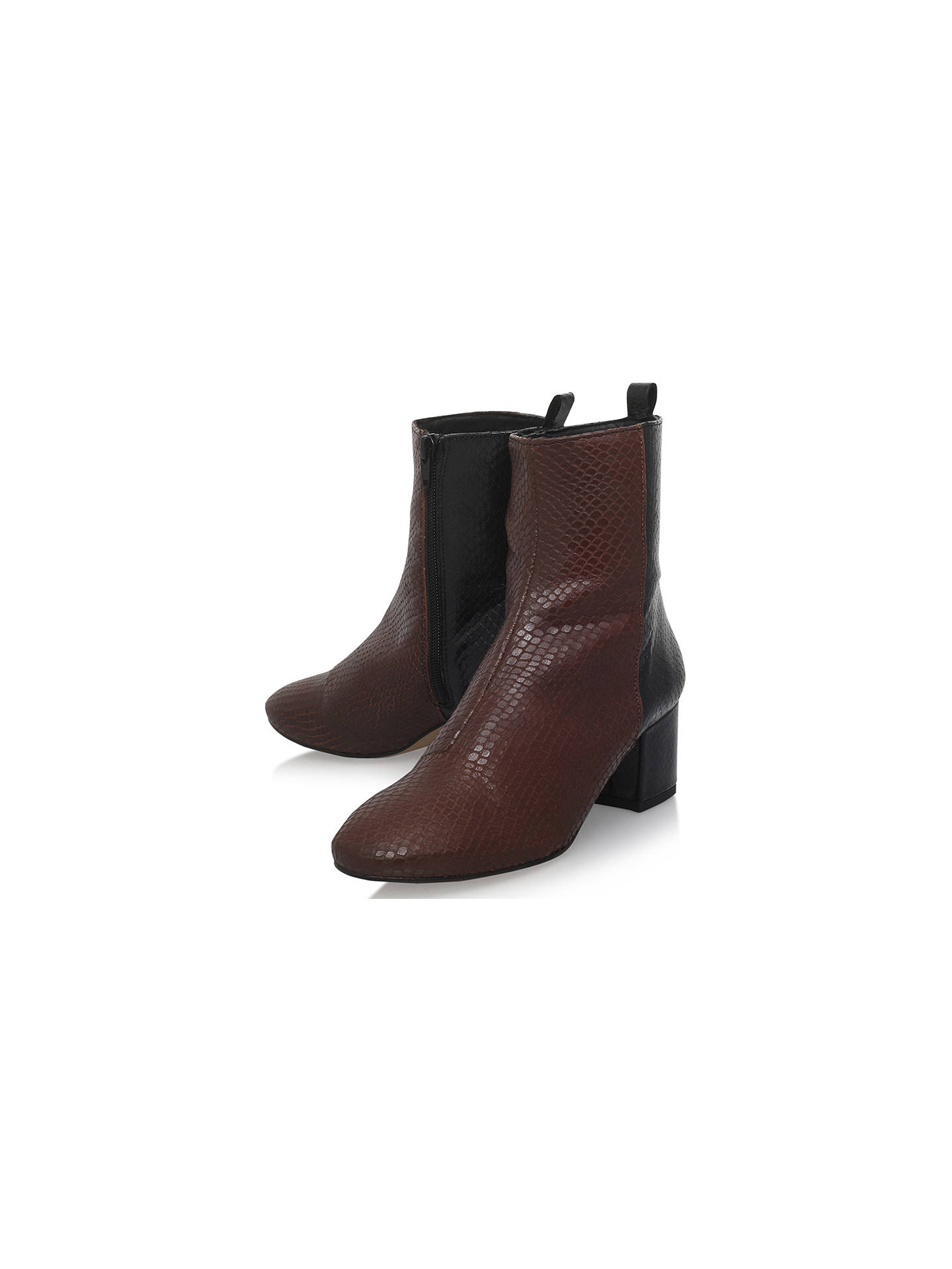 best quality first look great quality KG by Kurt Geiger Snooze Block Heeled Ankle Boots at John Lewis ...