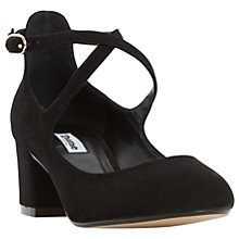 Buy Dune Ani Cross Strap Court Shoes, Black Online at johnlewis.com