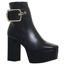 Buy KG by Kurt Geiger Spritz Platform Block Heeled Ankle Boots, Black Online at johnlewis.com