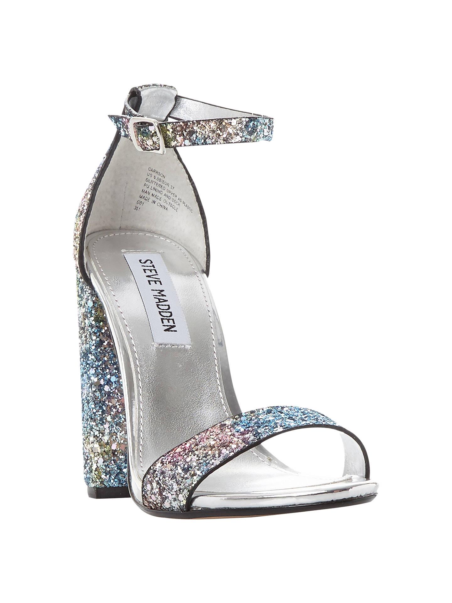 3304874f1698 Buy Steve Madden Carrson High Block Heel Two Part Sandals, Glitter Multi, 3  Online ...