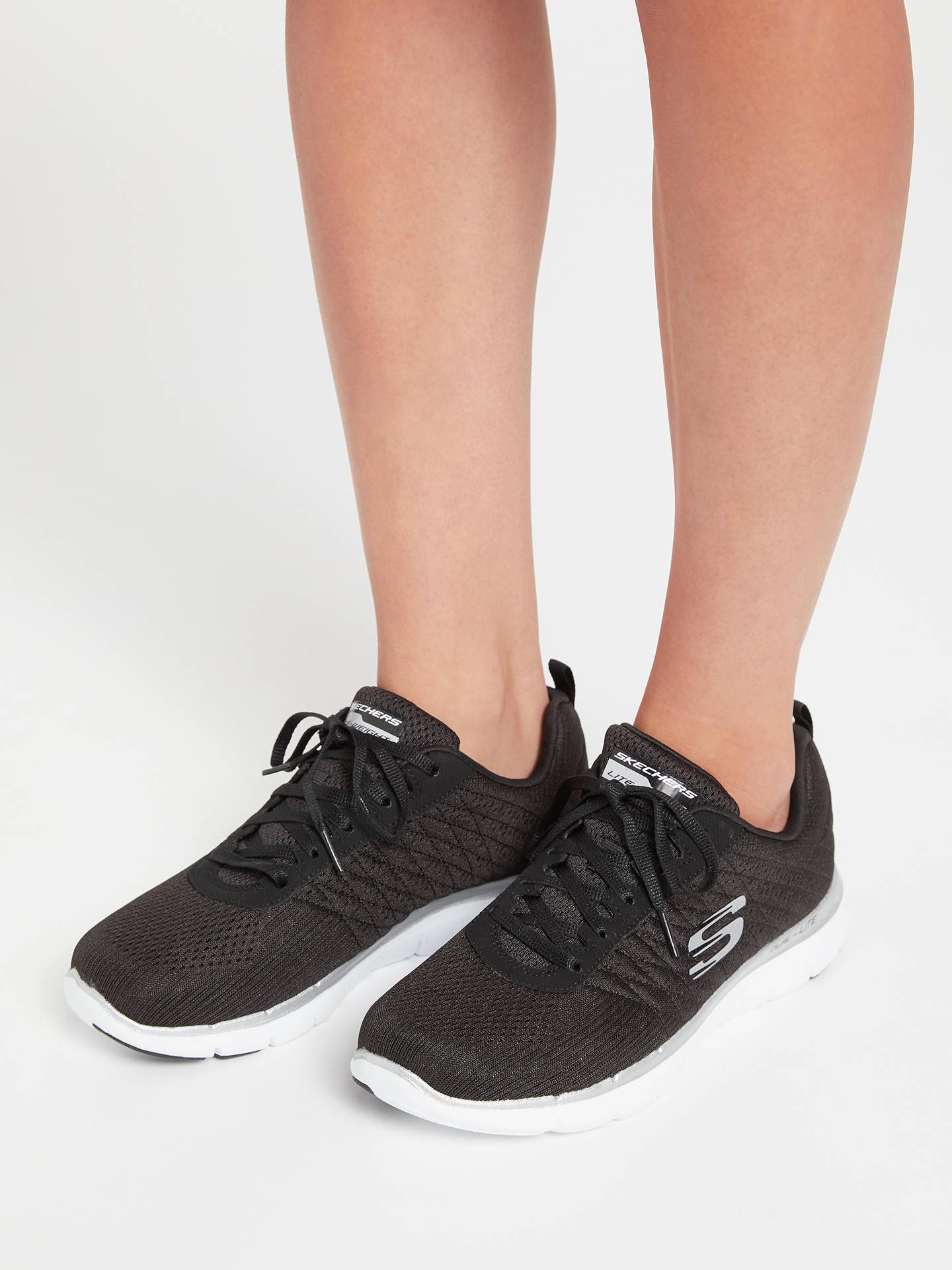 Skechers Womens Black Flex Appeal 2.0 Break Free Trainers in