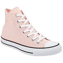 Buy Converse Chuck Taylor All Star Hi Top Textured Trainers, Vapour Pink Online at johnlewis.com