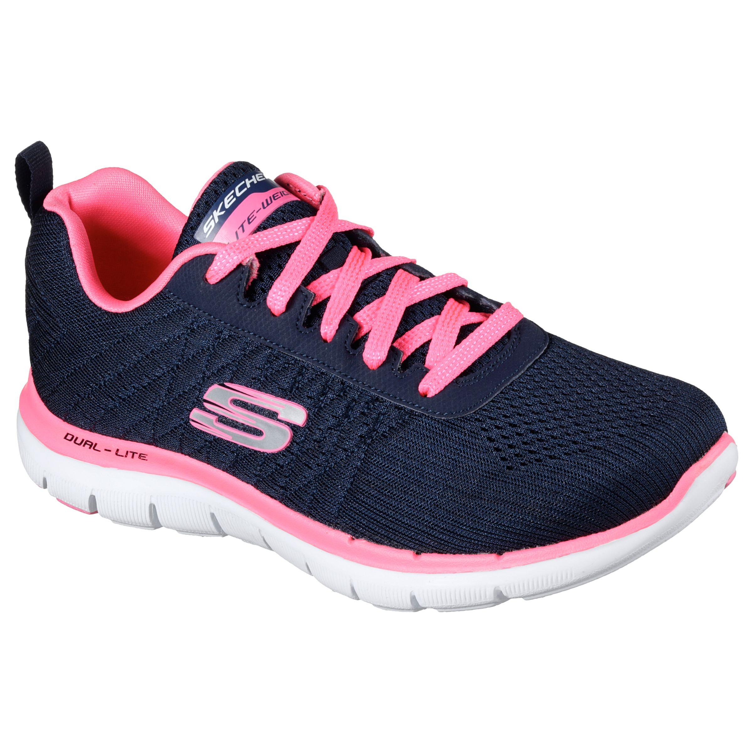 skechers navy pink