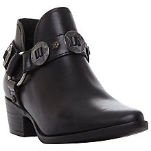 Buy Steve Madden Aces Studded Ankle Boots, Black Leather Online at johnlewis.com