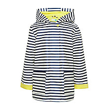 Buy John Lewis Girls' Striped Rain Mac, Navy/White Online at johnlewis.com