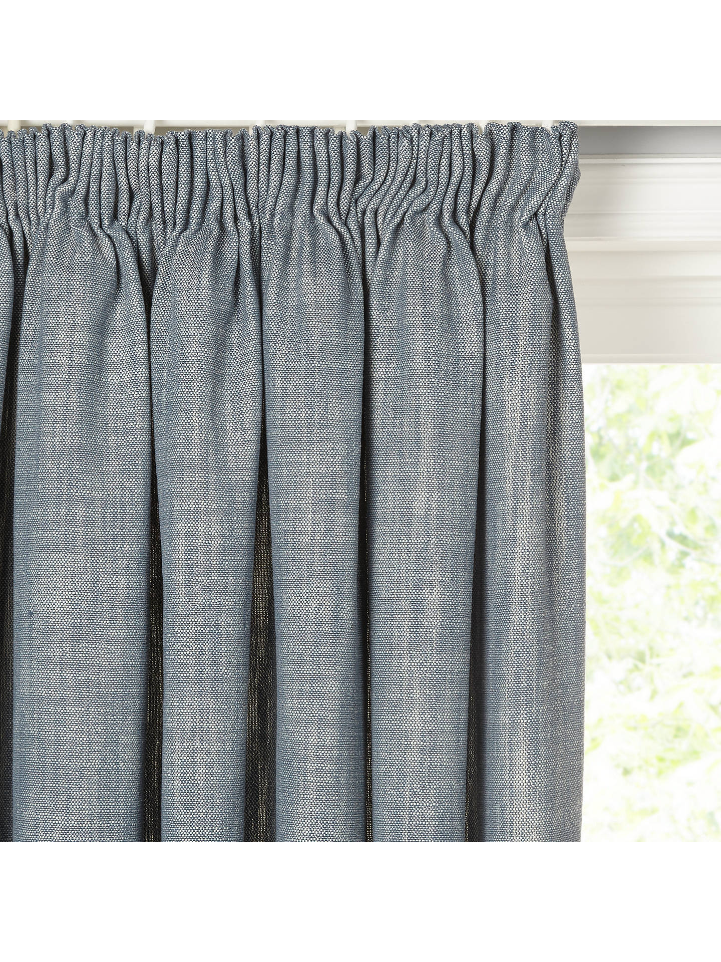 Buy Croft Collection Skye Pair Lined Pencil Pleat Curtains, Loch Blue, W167 x Drop 137cm Online at johnlewis.com