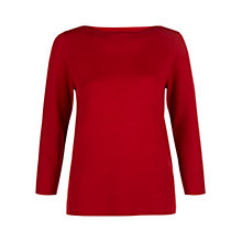 Buy Hobbs Cesci Sweater, Red Online at johnlewis.com