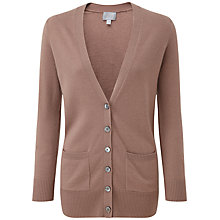 Buy Pure Collection Alexa Cashmere Boyfriend Cardigan, Mushroom Online at johnlewis.com