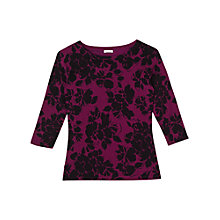 Buy Precis Petite Aileen Printed Jumper, Pink Online at johnlewis.com