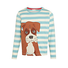 Buy John Lewis Buster the Boxer Long Sleeve Striped Top, Blue/White Online at johnlewis.com