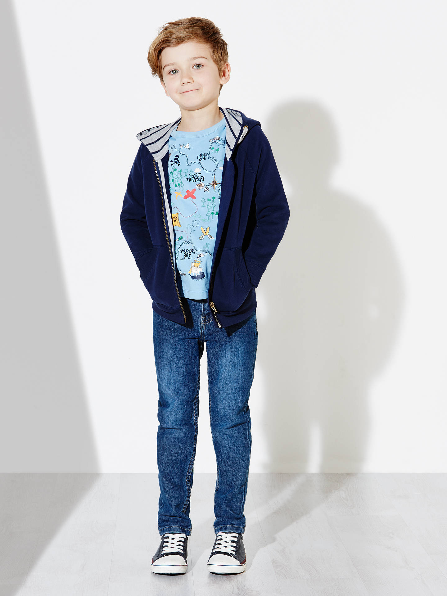 2019 clearance sale nice shoes the best attitude John Lewis Boys' Core Hoodie, Peacoat at John Lewis & Partners