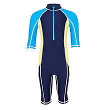 Buy John Lewis Boys' Panel SunPro Suit, Navy Online at johnlewis.com