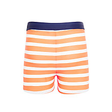 Buy John Lewis Boys' Striped Swimming Trunks, Orange/White Online at johnlewis.com
