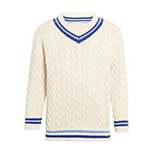 Buy John Lewis Heirloom Collection Boys' Cricket Suit Jumper, Cream Online at johnlewis.com