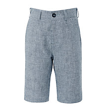 Buy John Lewis Heirloom Collection Boys' Puppytooth Suit Shorts, Navy Online at johnlewis.com