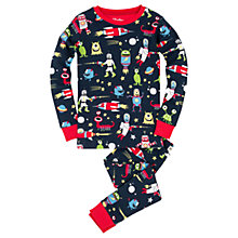 Buy Hatley Children's Space Aliens Pyjamas, Navy Online at johnlewis.com