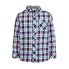 Buy John Lewis Boys' Check Core Shirt, Blue/Multi Online at johnlewis.com