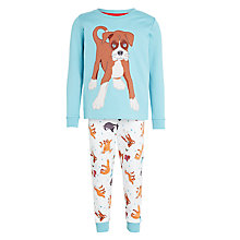 Buy John Lewis Buster the Boxer Pyjamas, Blue Online at johnlewis.com
