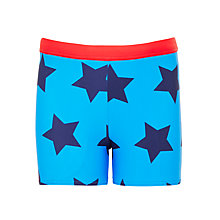 Buy John Lewis Boys' Star Print Swimming Trunks, Blue Online at johnlewis.com