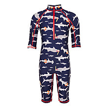 Buy John Lewis Boys' Shark Print SunPro Suit, Navy Online at johnlewis.com