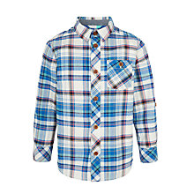 Buy John Lewis Boys' Multi Check Shirt, Blue/Multi Online at johnlewis.com