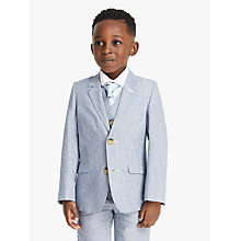 Buy John Lewis Heirloom Collection Boys' Ticking Stripe Blazer Suit Jacket, Blue Online at johnlewis.com
