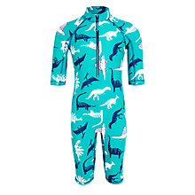 Buy John Lewis Boys' Dinosaur SunPro Suit, Green Online at johnlewis.com