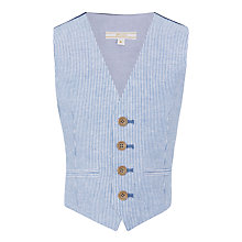 Buy John Lewis Heirloom Collection Boys' Ticking Stripe Suit Waistcoat, Blue Online at johnlewis.com