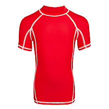 Buy John Lewis Boys' Solid Short Sleeve Rash Vest, Red Online at johnlewis.com