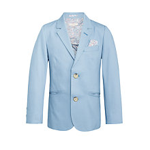 Buy John Lewis Heirloom Collection Boys' Textured Blazer Suit Jacket, Blue Online at johnlewis.com