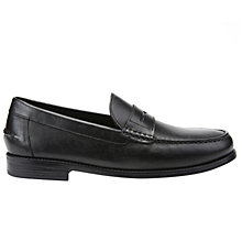 Buy Geox New Damon Moccasins Shoes, Black Online at johnlewis.com